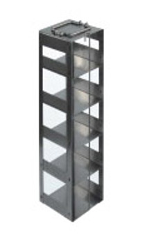 RC9625A Argos Technologies Chest Freezer Vertical Rack for 96 - Deep Well Plates,384 - Deep Well Plates, Holds 25 Plates w/ Lid, Stainless Steel (1 Rack)