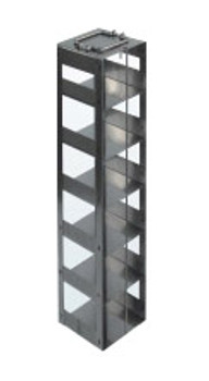RC9630A Argos Technologies Chest Freezer Vertical Rack for 96 - Deep Well Plates,384 - Deep Well Plates, Holds 30 Plates w/ Lid, Stainless Steel (1 Rack)