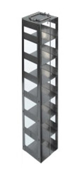 RC9635A Argos Technologies Chest Freezer Vertical Rack for 96 - Deep Well Plates,384 - Deep Well Plates, Holds 35 Plates w/ Lid, Stainless Steel (1 Rack)