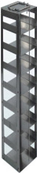 RC9640A Argos Technologies Chest Freezer Vertical Rack for 96 - Deep Well Plates,384 - Deep Well Plates, Holds 40 Plates w/ Lid, Stainless Steel (1 Rack)