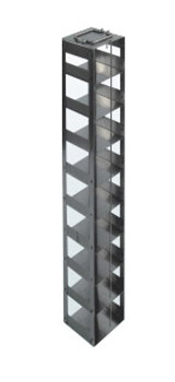 RC9645A Argos Technologies Chest Freezer Vertical Rack for 96 - Deep Well Plates,384 - Deep Well Plates, Holds 45 Plates w/ Lid, Stainless Steel (1 Rack)