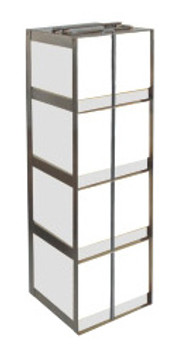 RC044A Argos Technologies Chest Freezer Vertical Rack for 15 and 50 mL Tube Boxes, Holds 4 Tubes, Stainless Steel (1 Rack)