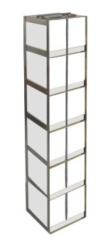 RC064A Argos Technologies Chest Freezer Vertical Rack for 15 and 50 mL Tube Boxes, Holds 6 Tubes, Stainless Steel (1 Rack)