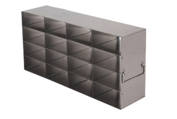 RMX442A Argos Technologies Upright Freezer Rack for Matrix Boxes, Holds 16 Boxes, Stainless Steel (1 Rack)