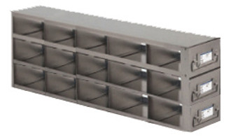 RDX532A Argos Technologies Upright Freezer Drawer Rack for Matrix Boxes, Holds 15 Boxes, Stainless Steel (1 Rack)