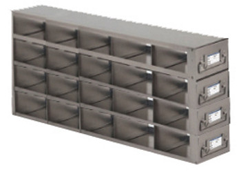 RDX542A Argos Technologies Upright Freezer Drawer Rack for Matrix Boxes, Holds 20 Boxes, Stainless Steel (1 Rack)