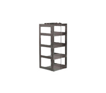 RCX42A Argos Technologies Chest Freezer Vertical Rack for Matrix Boxes, Holds 4 Boxes, Stainless Steel (1 Rack)