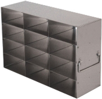 RFS2534A Argos Technologies Upright Freezer Rack for 25 Place Slide Boxes, Holds 12 Boxes, Stainless Steel (1 Rack)
