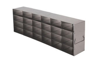 RFS2564A Argos Technologies Upright Freezer Rack for 25 Place Slide Boxes, Holds 24 Boxes, Stainless Steel (1 Rack)
