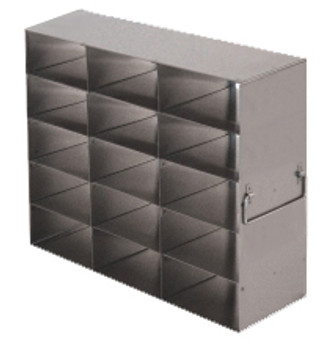 RFS2535A Argos Technologies Upright Freezer Rack for 25 Place Slide Boxes, Holds 15 Boxes, Stainless Steel (1 Rack)