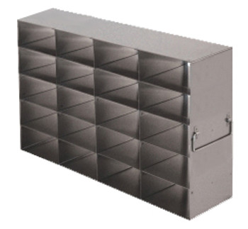 RFS2545A Argos Technologies Upright Freezer Rack for 25 Place Slide Boxes, Holds 20 Boxes, Stainless Steel (1 Rack)