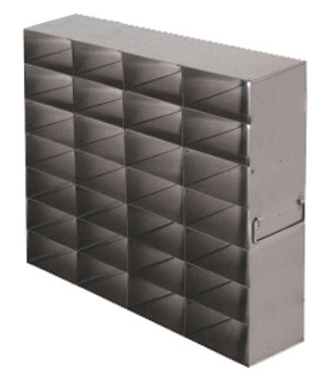 RFS2547A Argos Technologies Upright Freezer Rack for 25 Place Slide Boxes, Holds 28 Boxes, Stainless Steel (1 Rack)