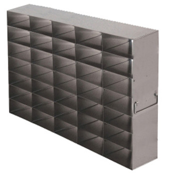 RFS2557A Argos Technologies Upright Freezer Rack for 25 Place Slide Boxes, Holds 35 Boxes, Stainless Steel (1 Rack)