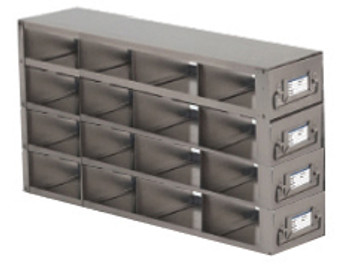 RDS2544A Argos Technologies Upright Freezer Drawer Rack for 25 Place Slide Boxes, Holds 16 Boxes, Stainless Steel (1 Rack)