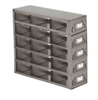 RDS2535A Argos Technologies Upright Freezer Drawer Rack for 25 Place Slide Boxes, Holds 15 Boxes, Stainless Steel (1 Rack)