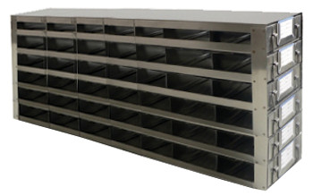 RDS2576A Argos Technologies Upright Freezer Drawer Rack for 25 Place Slide Boxes, Holds 42 Boxes, Stainless Steel (1 Rack)