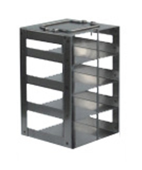 RCS254A Argos Technologies Chest Freezer Vertical Rack for 25 Place Slide Boxes, Holds 4 Boxes, Stainless Steel (1 Rack)