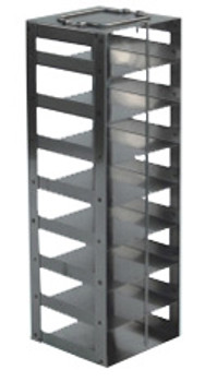 RCS258A Argos Technologies Chest Freezer Vertical Rack for 25 Place Slide Boxes, Holds 8 Boxes, Stainless Steel (1 Rack)