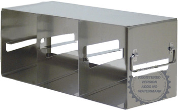 "RFE343A Argos Technologies Upright Freezer Eco-Rack for 3"" Cryoboxes, Holds 8 Boxes, Stainless Steel, 3 x 4 (1 Rack)"