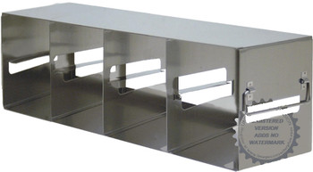 "RFE423A Argos Technologies Upright Freezer Eco-Rack for 3"" Cryoboxes, Holds 12 Boxes, Stainless Steel, 4 x 2 (1 Rack)"