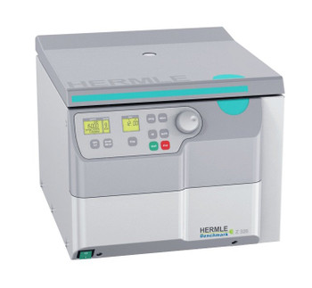 Hermle Z326 Universal Centrifuge, Includes 4 x 100 mL Rotor and 15 and 50 mL Adapter