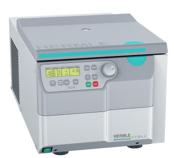 Hermle Z326 Refrigerated Universal Centrifuge, Includes 4 x 100 mL Rotor and 15 and 50 mL Adapter