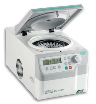 Hermle White Z216 MK Refrigerated Centrifuge  115V Swing Out Rotor, 15000 RPM