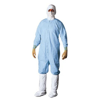 CC252BBUXL0025PI DuPont Tyvek Micro-Clean 2-1-2 Coverall, Blue, XL, Individually Packaged (Box of 25)