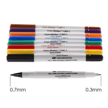 MP-1RE GA International Cryo-Marker Dual Point Waterproof Permanent Cryogenic Markers (Each of 1)