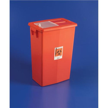 Covidien KEN 8938 SharpSafety Large Volume Sharps Containers 18 Gallon Sliding Lid Container  (Case of 5)
