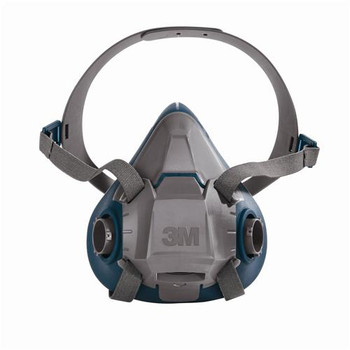 3M 142-6501QL 6500 Series Rugged Comfort Reusable Half Facepiece Respirators Reusable Half Facepiece Respirator, Quick-Latch, Small (Each of  1)