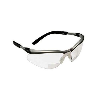 3M Safety 247-11374-00000-20-EA BX Reader Protective Eyewear, Clear Lens, Silver Frame, +1.5 Diopter ( Each of 1)