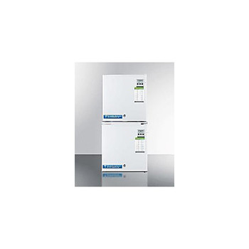 Accucold FFAR24L-FS24LSTACKME-EA REFRIGERATOR AND FREEZER STACKED UNIT ( Each of 1)