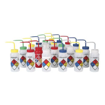 Bel-Art Products F11716-0011 Scienceware Right-to-Know 4-Color Safety-Labeled Wash Bottles 500mL Methanol 4-Color Safety-Labeled Wash Bottle  (Package of 4)