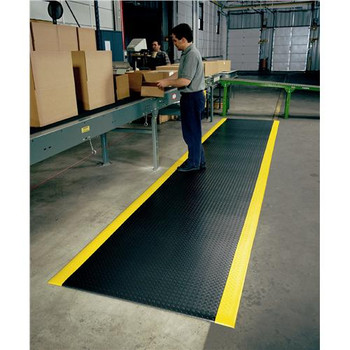 Superior Manufacturing (NoTrax) 419S0023BY 419 Diamond Sof-Tred Floor Matting 419 Diamond Sof-Tred Floor Matting 2' x 3', Black/Yellow  (Each of 1)