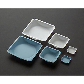 WB-158-100 Eagle Thermoplastics Square Weighing Dishes: Polystyrene, Anti-Static, Natural 1 5/8 X 1 5/8 X (Box of 100)