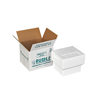 Polar Tech NS-3C Thermo Chill Nestable Insulated Shippers, Foam and Carton, 7-3/4 x 6-3/4 x 5-3/4\  (Case of 12)