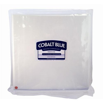 High Tech Conversions NT10-1212CB Cobalt Blue Sterile Dry Wipes, ISO Class 5 Dry, Non-Woven, Sterile Wipes, 12 x 12\  (Package of 120)
