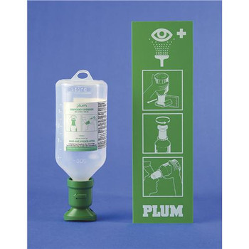 DISCONTINUED  Bel-Art Products F24880-4012 Scienceware PLUM Open Eye Wash Stations with Sterile Saline - 500 or 1000ml Plum 1000ml Saline Station, Double  (Each of 1)