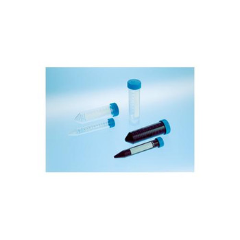 Greiner Bio-One 227261 CELLSTAR Centrifuge Tubes CELLSTAR Centrifuge Tube, 50mL, 30x115mm, Sterile, PPN, Blue Screw Cap, Conical (V) Bottom, with Graduations and ID Field, 20 per Bag  (Case of 500)