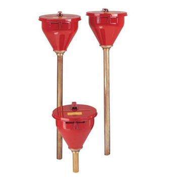 Justrite 8207 Wide Mouth Safety Funnels Safety Funnel w/6 In. Brass Flame Arrester  (Each of 1)