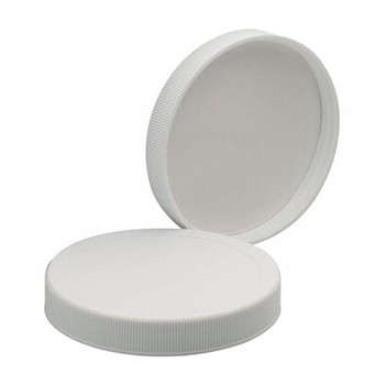 2555-02 DWK Life Sciences (Wheaton) 58-400 Redi-Cap, PP White, Fmd PE Liner (Case of 72)