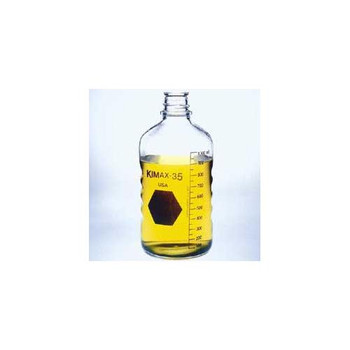 DWK Life Sciences (Kimble) 61100-125 Media/Storage, KG-35 Borosilicate Glass, Screw Thread, without Closure Bottle, Kg35, No Cap, 33-430, 125ml  (Case of 48)