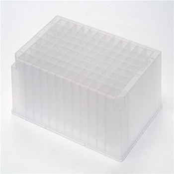 Axygen P-2ML-SQ-C-S Axygen 96 Well Clear Round Bottom 2mL Polypropylene Deep Well Plate, 5 per Pack, Nonsterile 2.0ml, Pre-Sterlized 96 Square Well Deep Well Plate. (Case of  25)