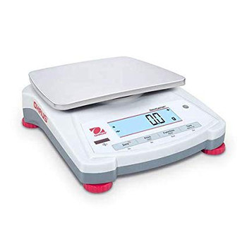Ohaus 1200g x 0.1g, Portable Top Loading Balance Ohaus Navigator NV1201, 7.5in x 5.7in Ultra Light