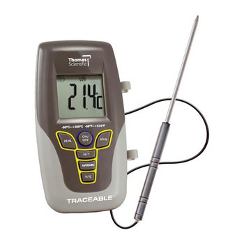 "Thomas Traceable Kangaroo Thermometer, 7.5"" Probe Length, -58 to 572 degree F, -50 to 300 degree C"