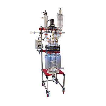 Ace Glass 12845-17-EA 100L Low Profile Jacketed Reactor Base System for Flange Mounted Motors ( Each of 1)