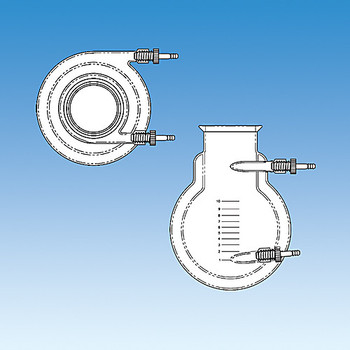 Ace Glass 6535-303-EA Flask, reaction, jacketed, 3L,4 in grooved flange, #11 Ace-Thred connections on jacket inlet/outlets for use with 3/8 in id tubing ( Each of 1)