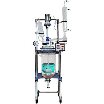 Across International 2R100.110 Ai R-Series Single/Dual Jacketed Reactors Ai Fully Customizable 100L Dual Jacketed Glass Reactor, 110V (Each of 1)