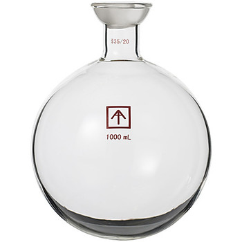 Across International RF-SE05-1L-EA Ai 35/20 Heavy Wall 1000mL Round Bottom Receiving Flask ( Each of 1)